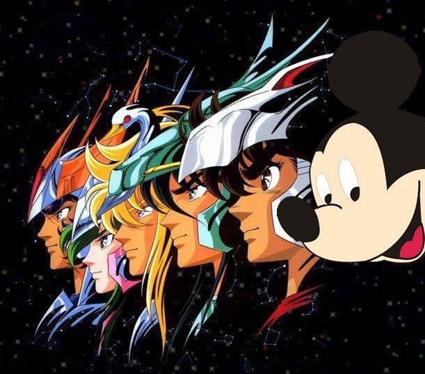 Los Caballeros del Zodiaco y Disney