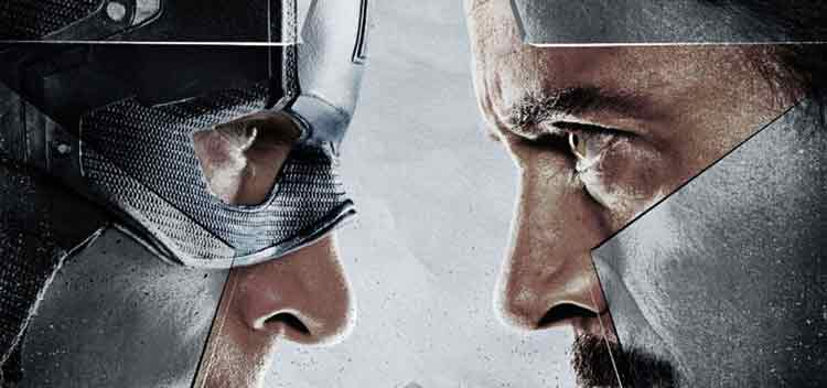 capitán america v iron Man en Civil War de Marvel Studios