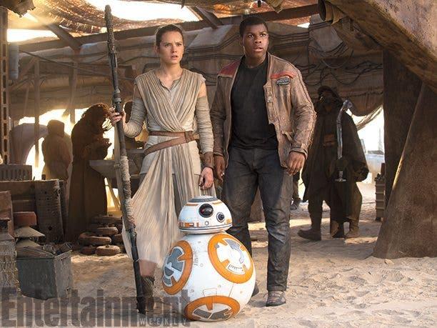 Rey y Finn en star wars el despertar de la fuerza