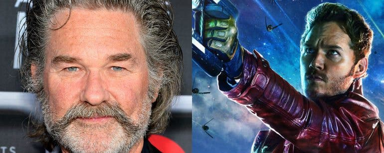 Kurt Russell padre de Star Lord en Guardianes de la Galaxia Vol. 2