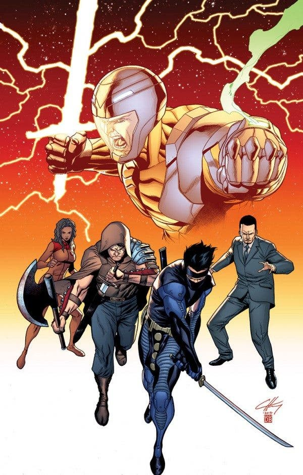 Variante portada Unity, de Valiant Comics