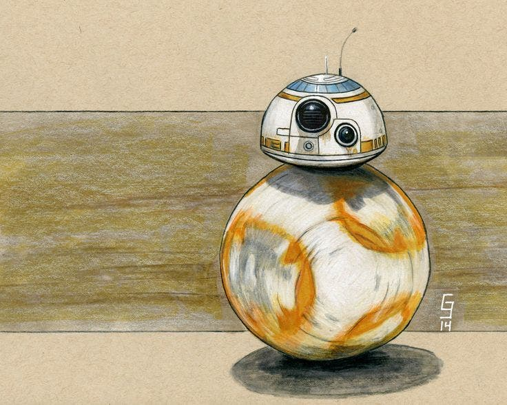 BB-8 - fan art - Star Wars