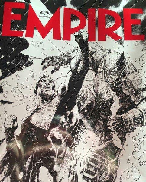 Batman v Superman - Portada EMPIRE - Jim Lee