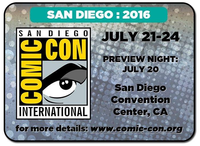 Revelados los primeros invitados a la Comic-Con de 2016