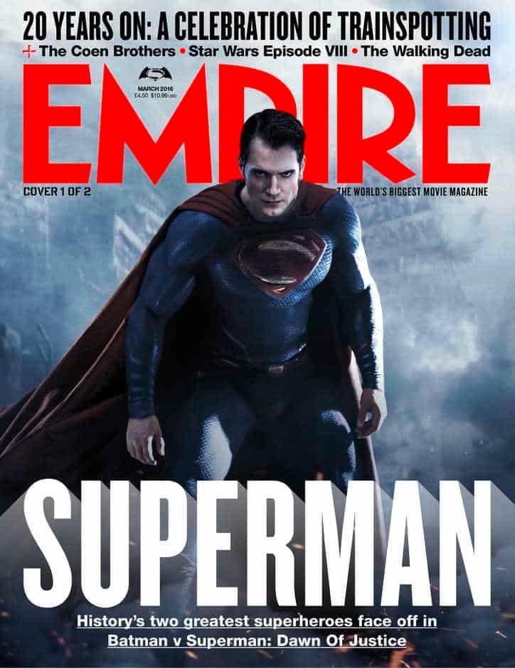 Superman - Batman v Superman - portada EMPIRE