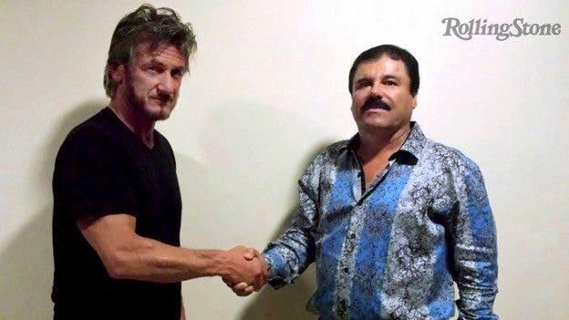 Sean Penn y El Chapo Guzmán, juntos.