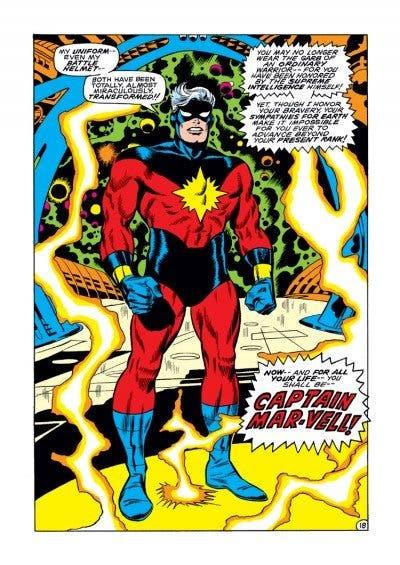 Portada Capitán Marvel
