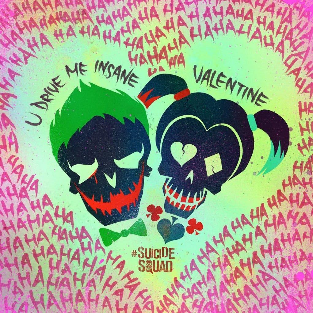 Poster Escuadron Suicida - Joker y Harley Quinn - San Valentin