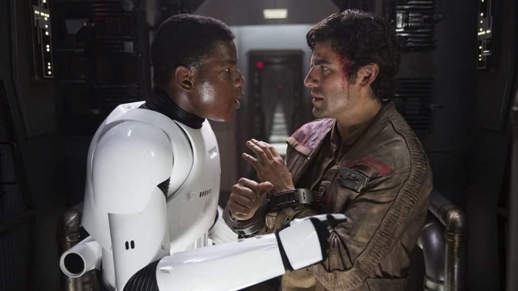 Fotograma de Star Wars: El despertar de la fuerza con Poe Dameron y Finn
