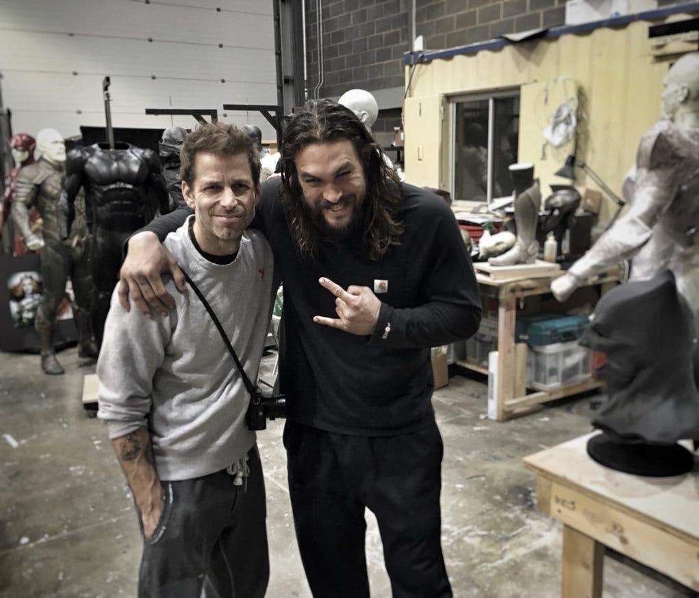 Zack Snyder Jason Momoa Justice League