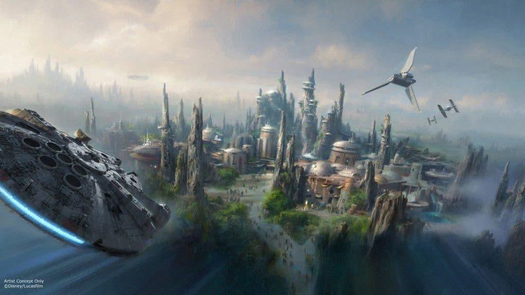 Concept art de Parque de atracciones Star Wars de Disney