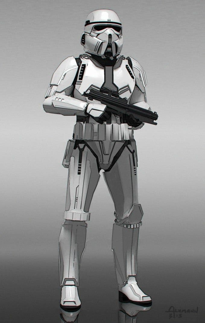 Diseño de Stormtrooper para El despertar de la fuerza