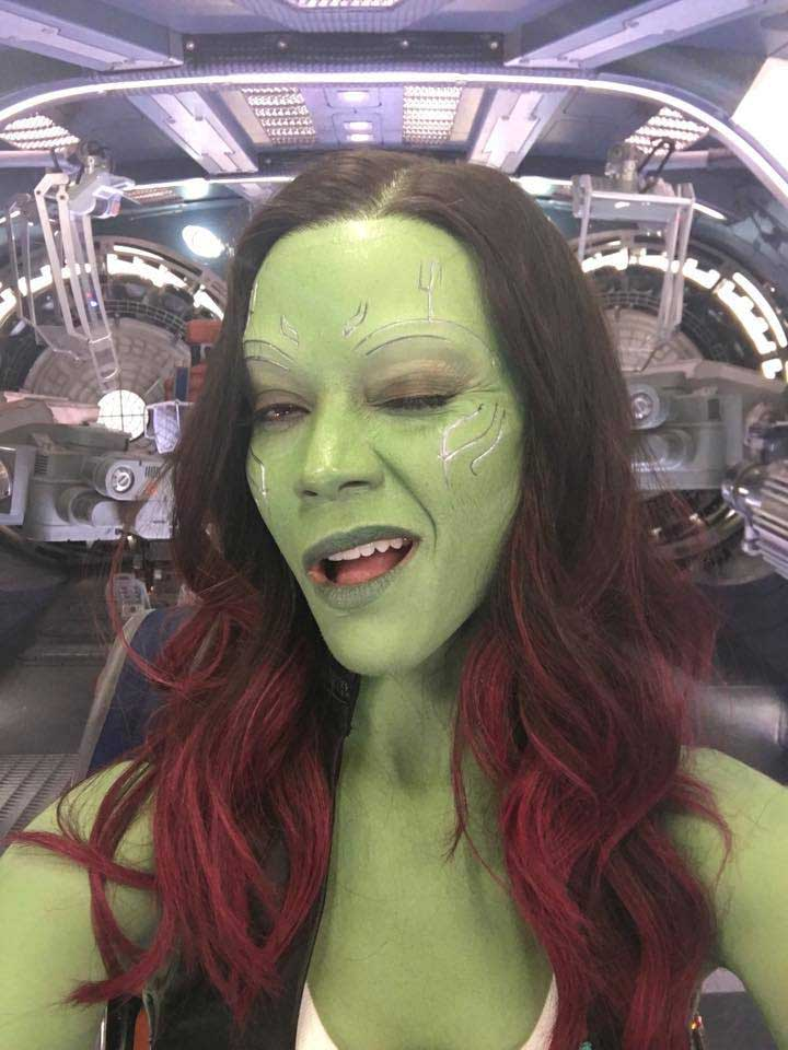 Zoe Saldana como Gamora Guardianes de la Galaxia 2