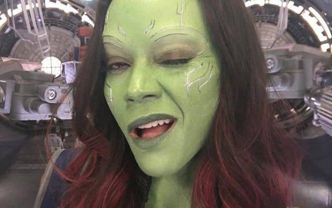 Zoe Saldana como Gamora
