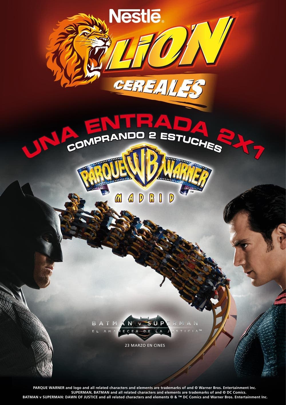 batman v Superman cereales Lion