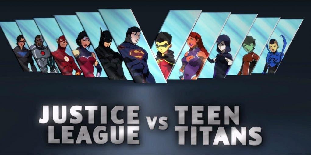 La Liga de la Justica Vs. Los Jóvenes Titanes'rs