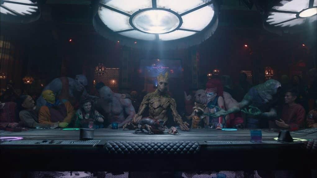 La ultima cena versión Guardianes de la Galaxia