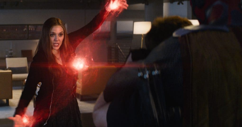 Scarlett Witch en un fotograma de Civil War