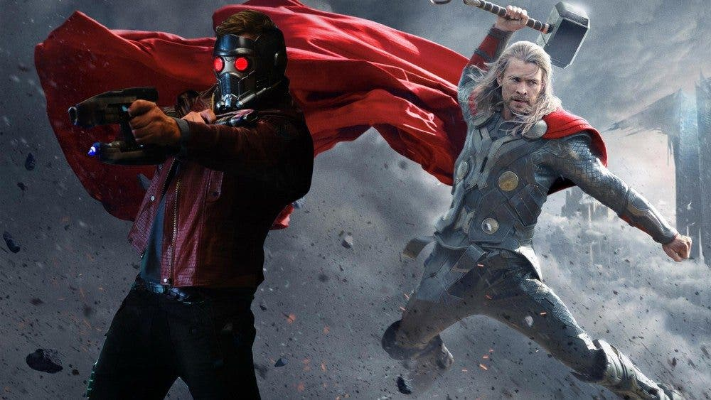 Star Lord y Thor en Vengadores: Infinity war