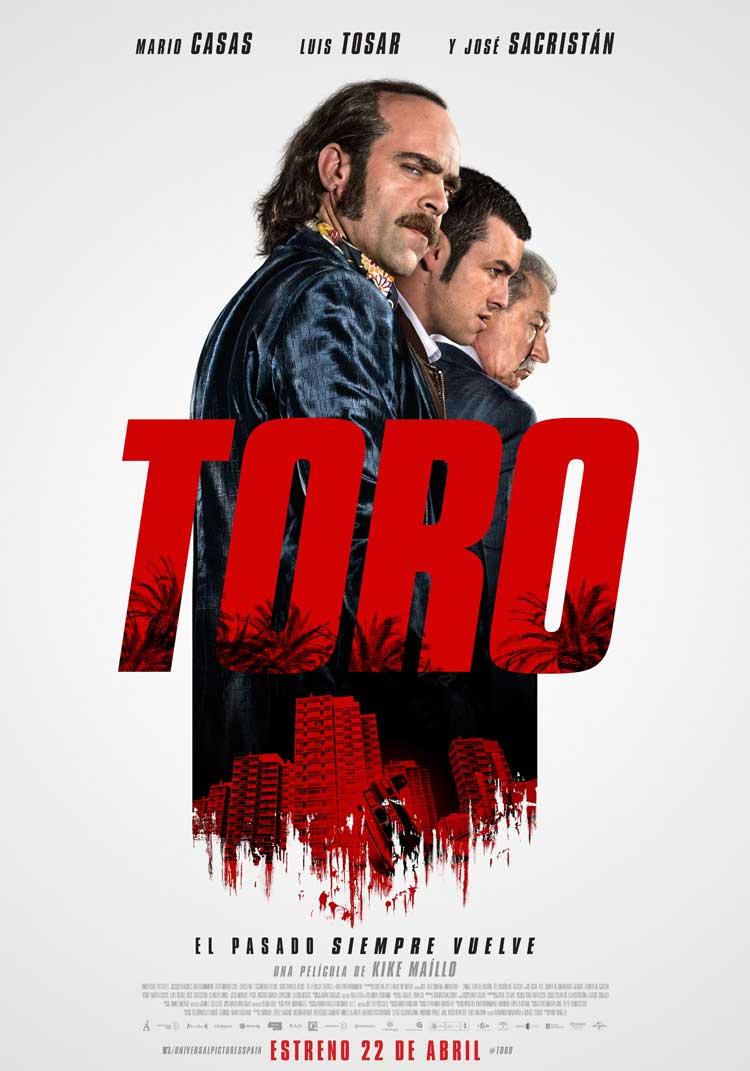 Cartel de TORO con Mario Casas y Luis Tosar
