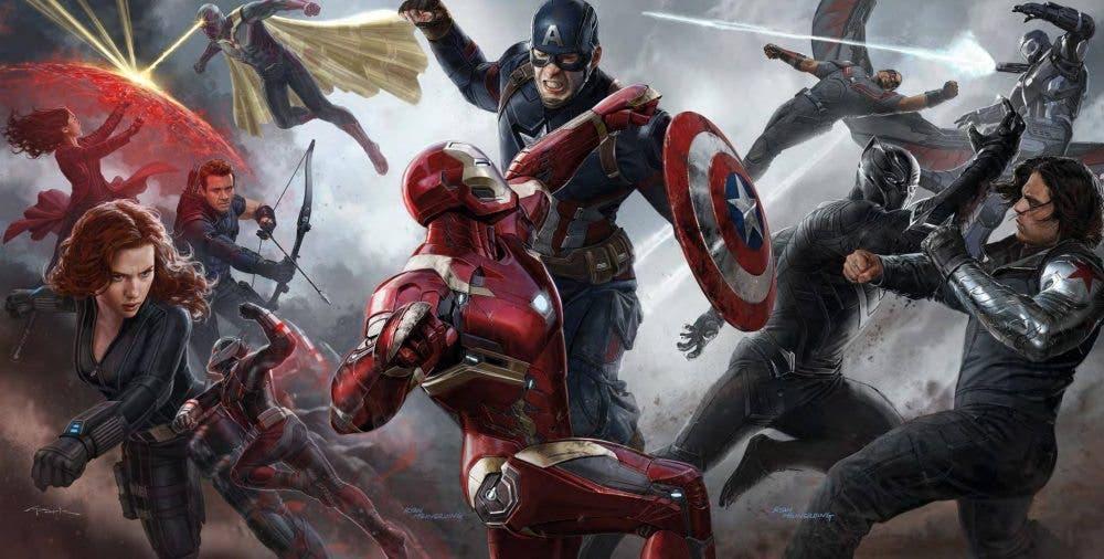 Ilustración de capitán américa: civil war