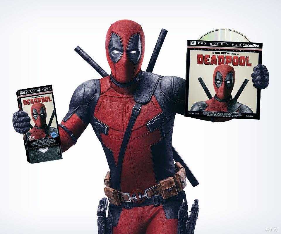 deadpool anuncia el lanzamiento en VHS y laser disc