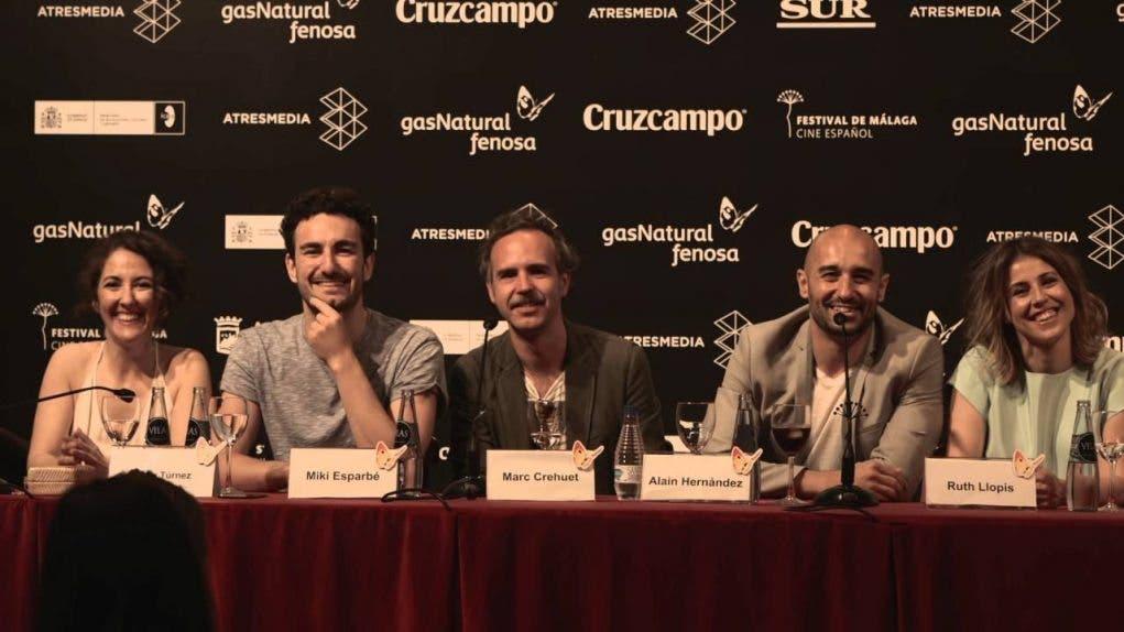 El equipo de El rey Tuerto durante la rueda de prensa en el Festival de Cine de Malága