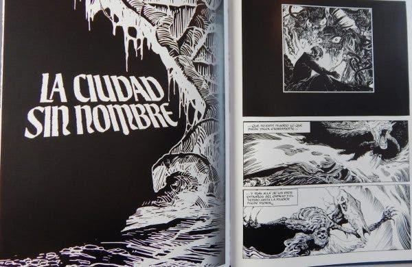 Páginas de 'Los mitos de Cthulhu' de Esteban Maroto