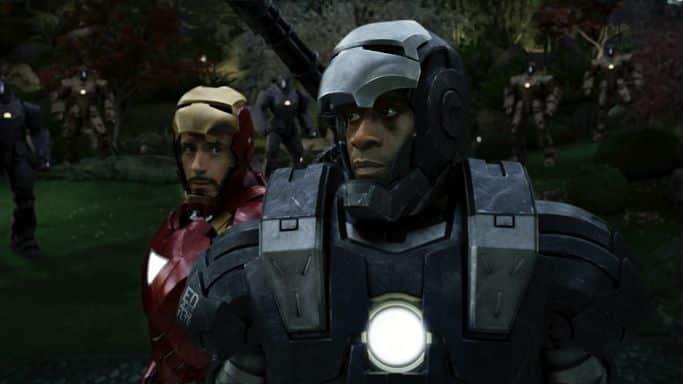 Iron man junto a Máquina de Guerra