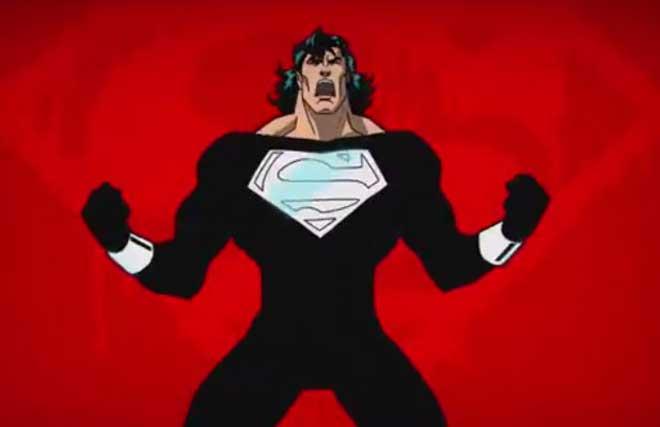 Superman Traje Negro La Liga de la Justicia