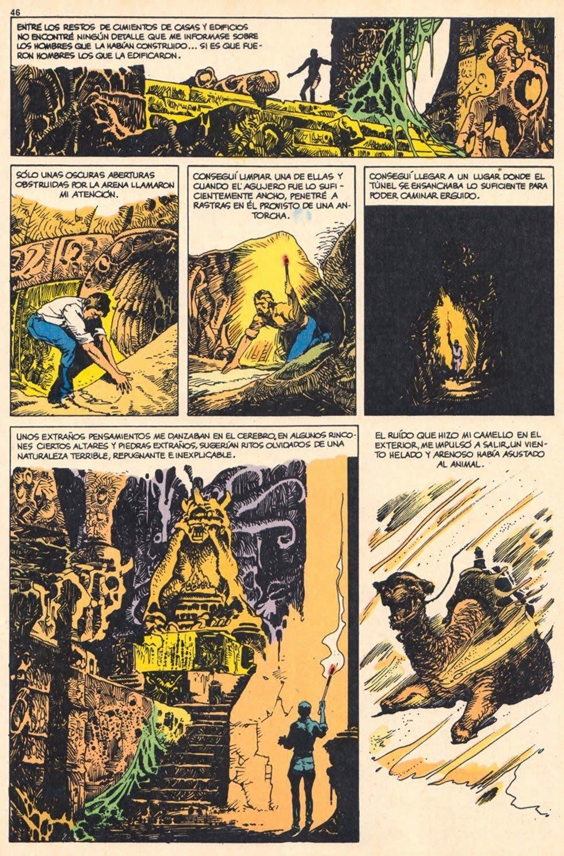 Página de 'Los mitos de Cthulhu' de Esteban Maroto