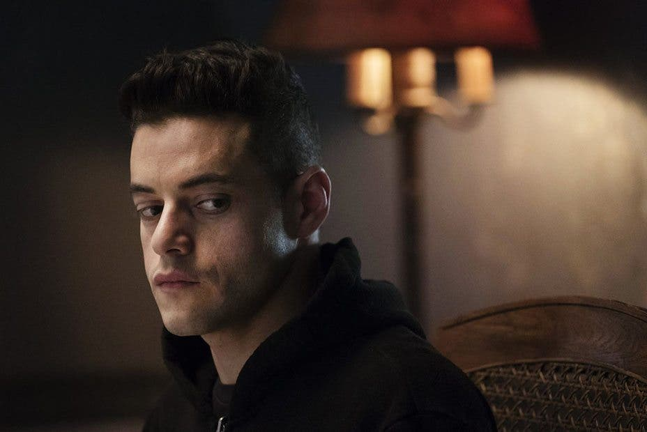 "MR. ROBOT -- ""eps2.0_unmasking.zip"" Episode 201 -- Pictured: Rami Malek as Eliot Alderson -- (Photo by: Peter Kramer/USA Network)"
