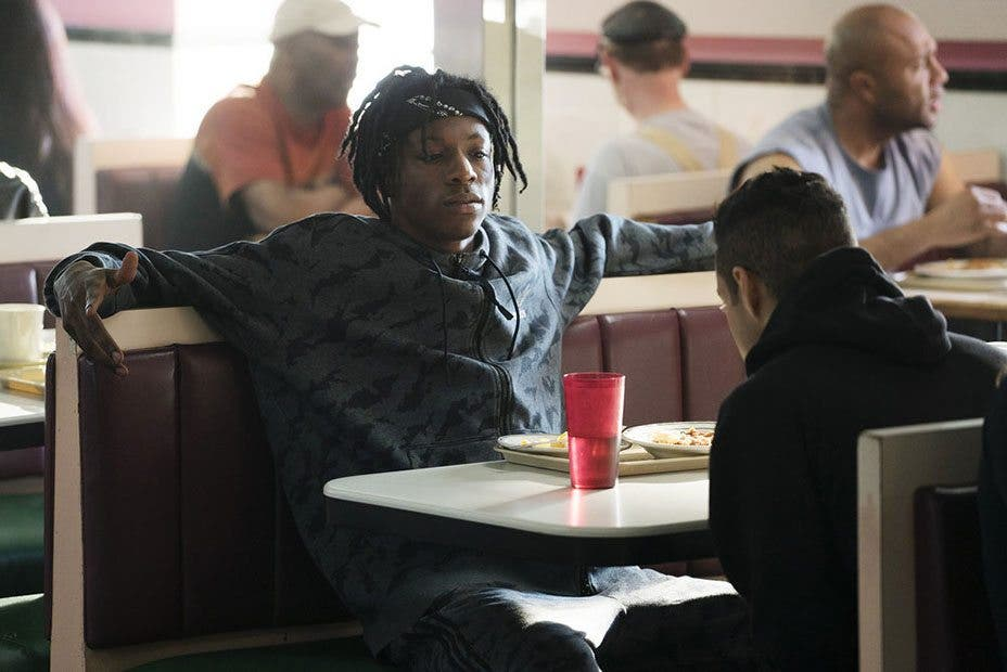 MR. ROBOT -- Pictured: Joey Bada$$ as Leon -- (Photo by: Peter Kramer/USA Network)