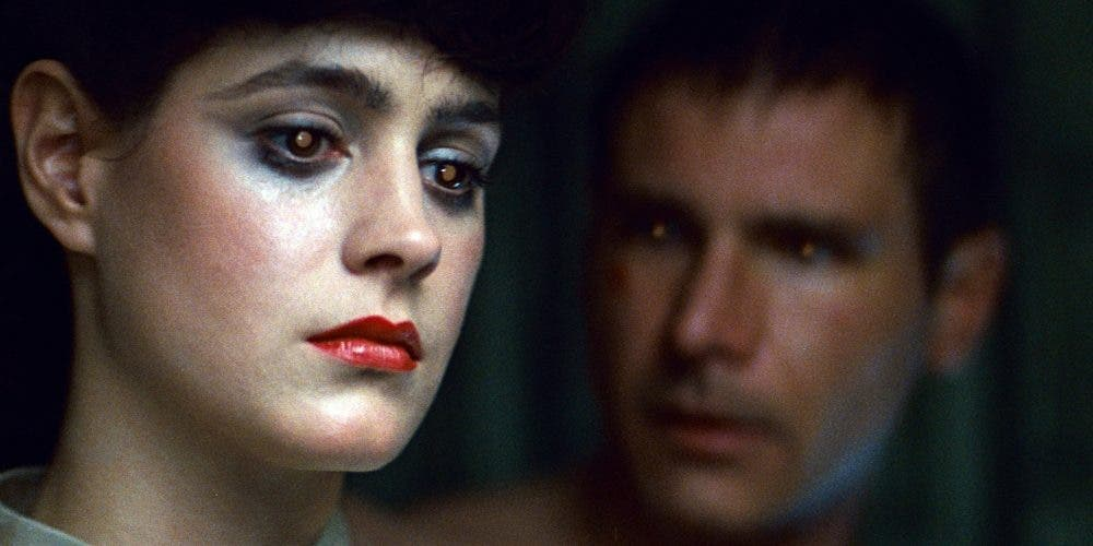 fotograma de Blade Runner con Sean Young y Harrison Ford