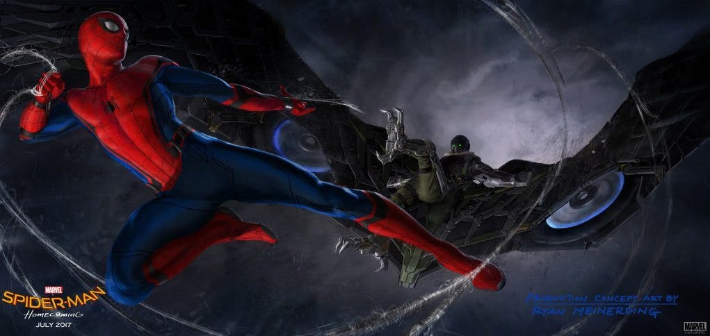 Concept art Spider-Man Homecoming