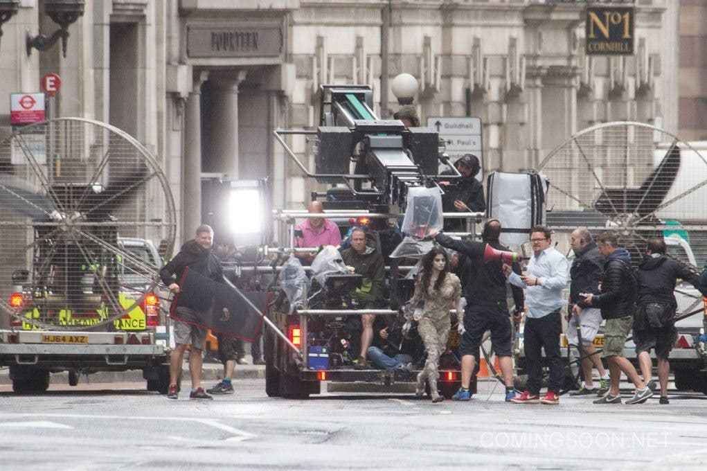 Filming of 'The Mummy' in London, England