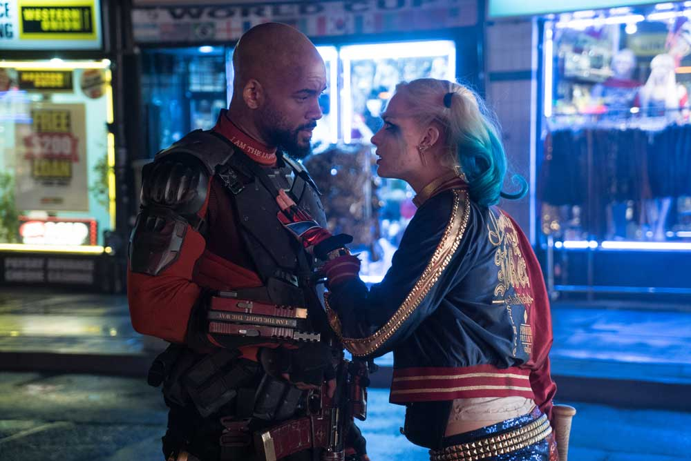 Will Smith y Margot Robbie en Escuadron suicida