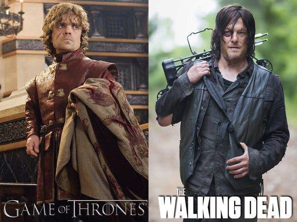 juego de tronos walking dead tyrion daryl