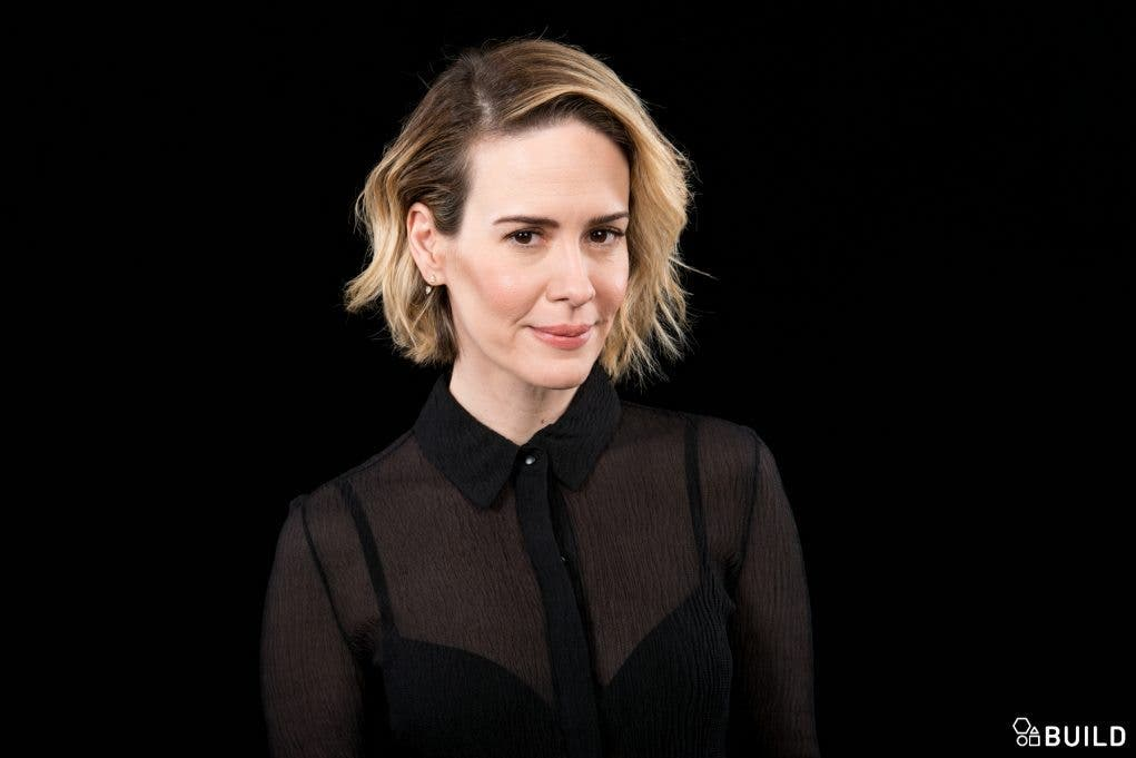 Sarah Paulson visits AOL Hq for Build on November 17, 2015 in New York. Photos by Noam Galai