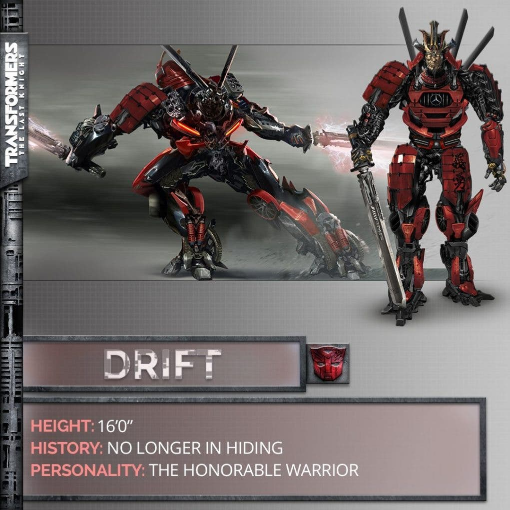 transformers the last Knight Drift
