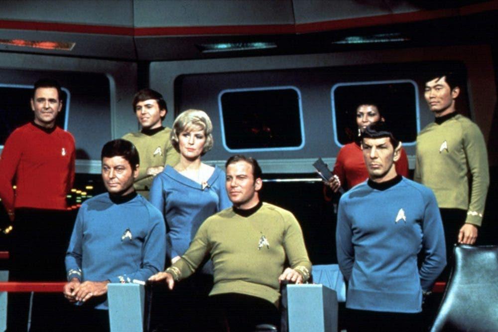 Fotograma con la tripulación original de la USS Enterprise
