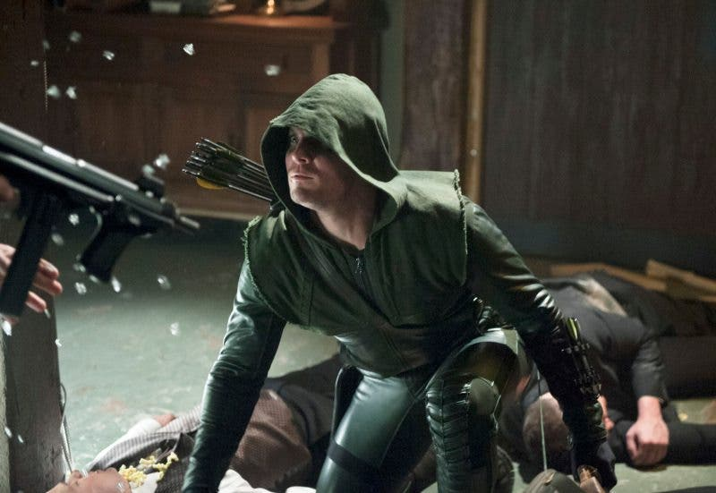 Stephen Amell en Green Arrow