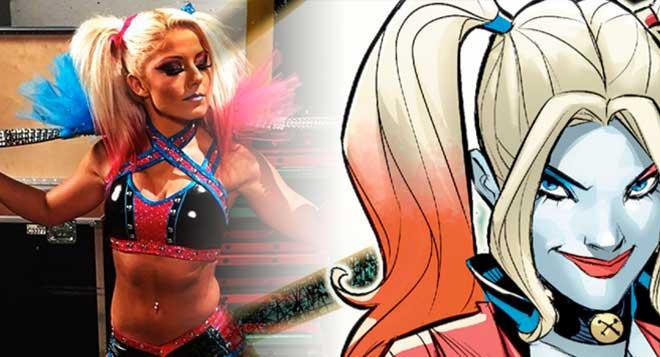 Harley Quinn WWE Alexa Bliss