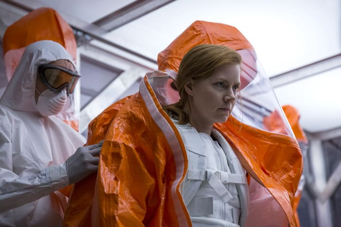 Arrival Denis Villeneuve y Amy Adams