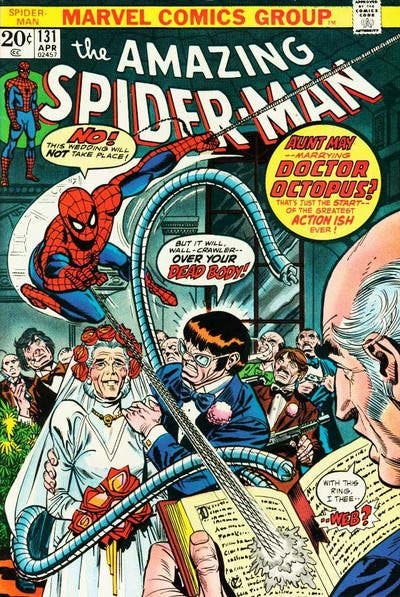 amazing-spider-man-131-la-boda-de-tia-may-con-doctor-octopus