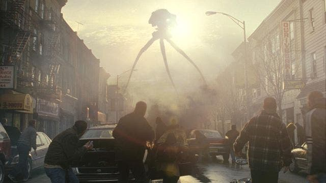 extraterrestres atacan la tierra en La Guerra de los Mundos