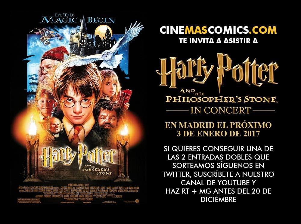 Harry Potter y la Piedra Filosofal en concierto concurso entradas