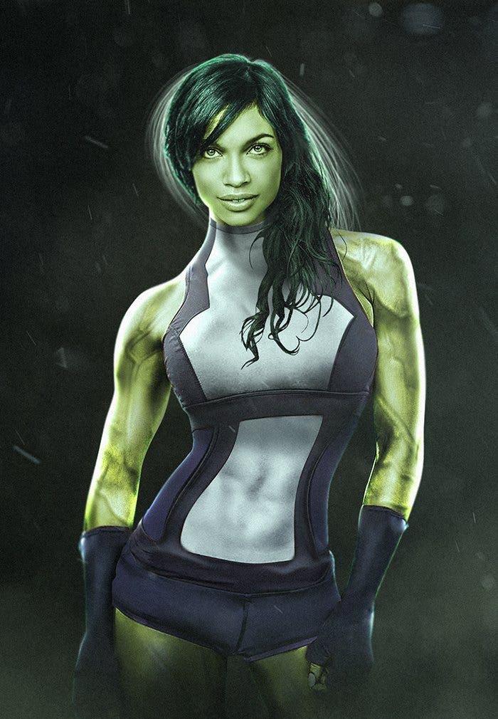 Rosario Dawson como She-Hulk (Hulka)