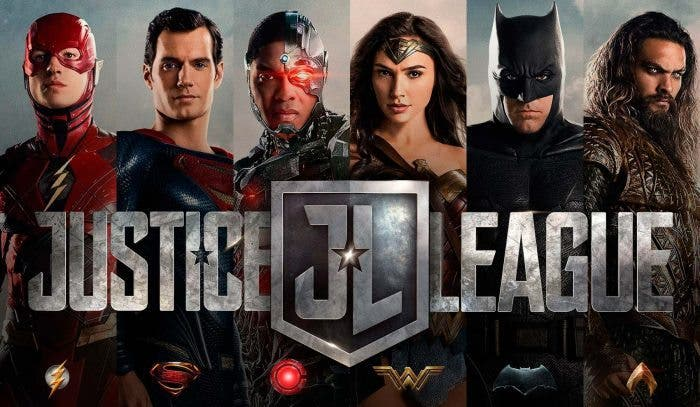 la liga de la justicia aquaman, flash, wonder woman, batman, superman y cyborg