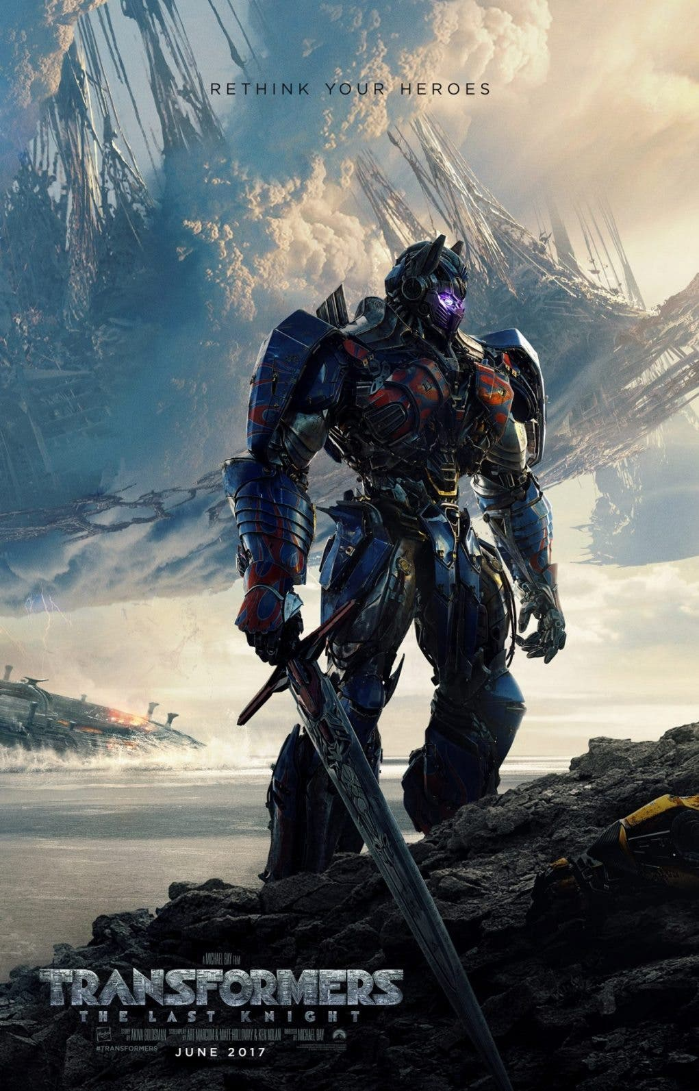 poster oficial Transformers 5 The Last Knight